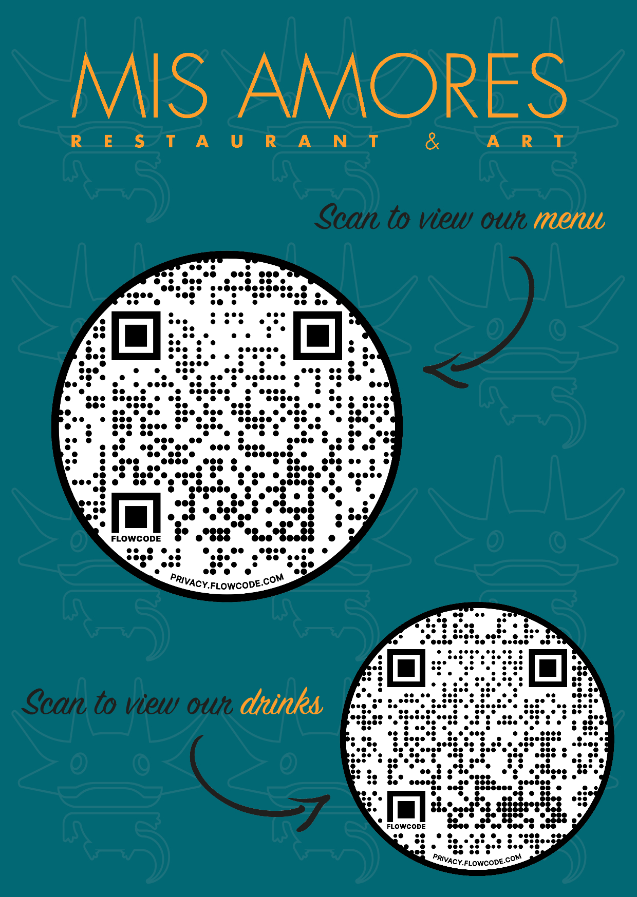Scan To View Our Menu And Drinks